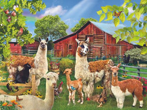 Six Llamas 1000 - 1000pc Jigsaw Puzzle by Sunsout