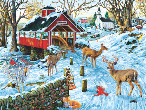 End of Day Crossing - 300pc Jigsaw Puzzle by Sunsout