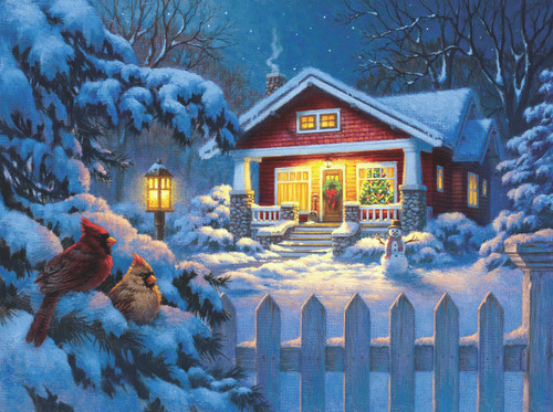 Christmas Bungalow - 1000pc Jigsaw Puzzle By Sunsout