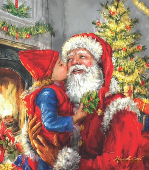 Kissing Santa - 500pc Jigsaw Puzzle by Sunsout