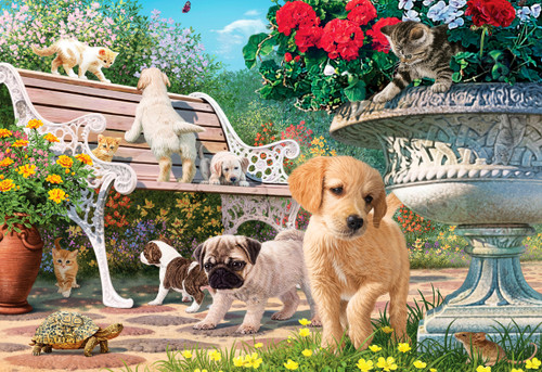 Pets Hide and Seek - 260pc Large Format Jigsaw Puzzle by Anatolian