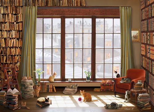 Window Cats - 1000pc Jigsaw Puzzle by Anatolian