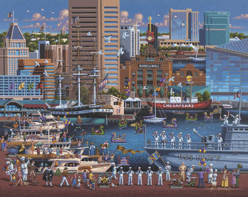 Baltimore - 500pc Jigsaw Puzzle by Dowdle
