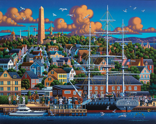 Boston National Historic Park - 500pc Jigsaw Puzzle by Dowdle