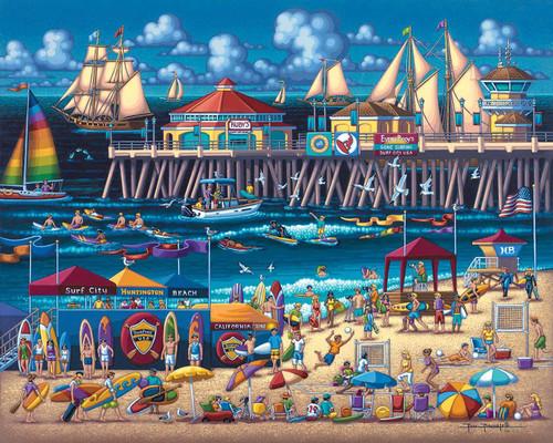 Huntington Beach - 500pc Jigsaw Puzzle by Dowdle