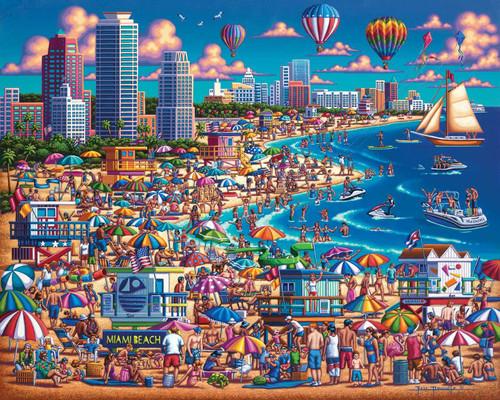 Miami Beach - 500pc Jigsaw Puzzle by Dowdle
