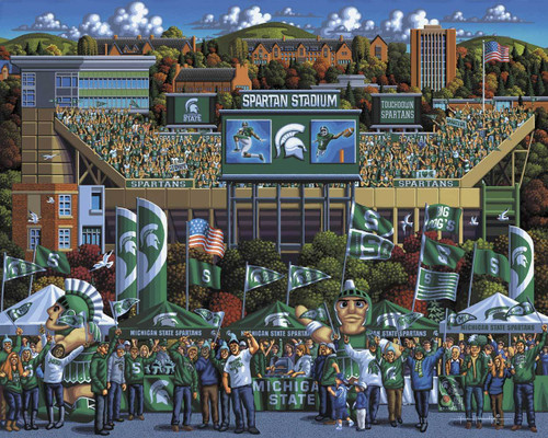 Michigan State Spartans - 500pc Jigsaw Puzzle by Dowdle