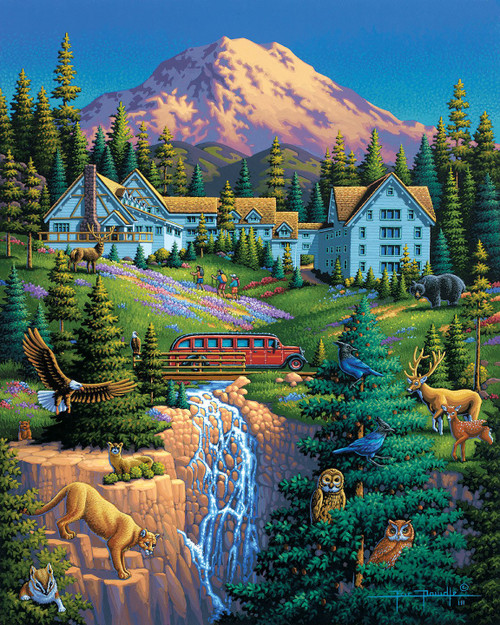 Mount Rainer National Park - 500pc Jigsaw Puzzle by Dowdle