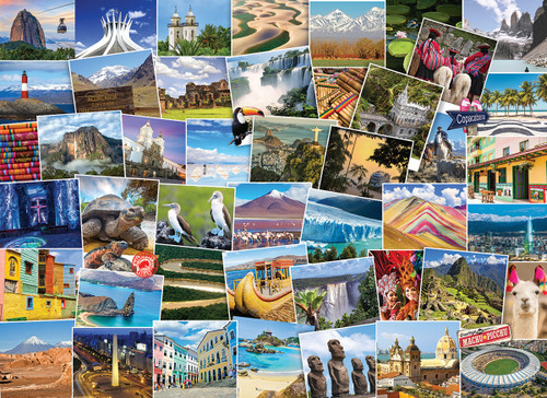 Globetrotter: South America - 1000pc Jigsaw Puzzle by Eurographics