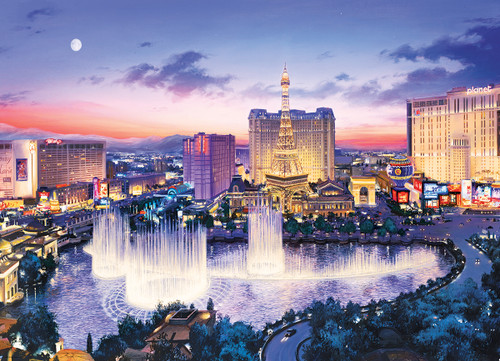 Lushpin: Las Vegas Strip - 1000pc Jigsaw Puzzle by Eurographics