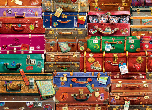 Travel Suitcases - 1000pc Jigsaw Puzzle by Eurographics