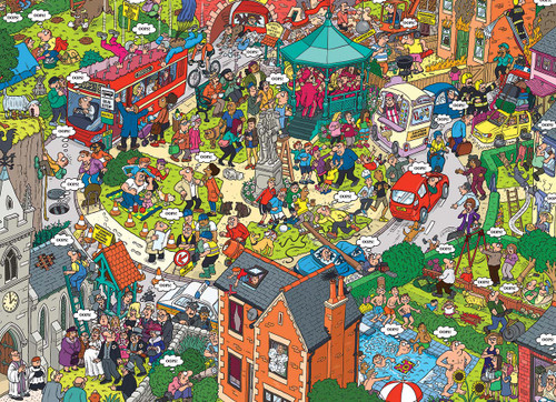 What Could Go Wrong? - 500pc Large Piece Jigsaw Puzzle by Eurographics