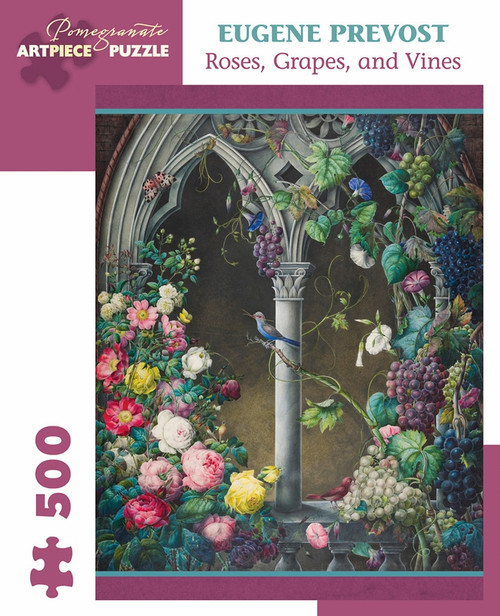 Prevost: Roses, Grapes, Vines - 500pc Jigsaw Puzzle by Pomegranate