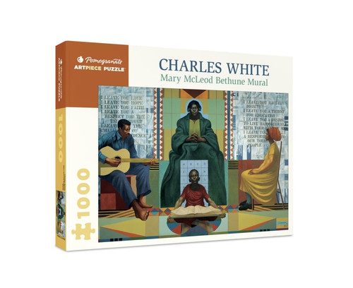 Charles White: Mary McLeod Bethune Mural - 1000pc Jigsaw Puzzle by Pomegranate