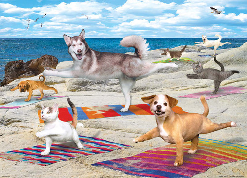 Yoga Beach - 300pc Large Piece Jigsaw Puzzle by Eurographics