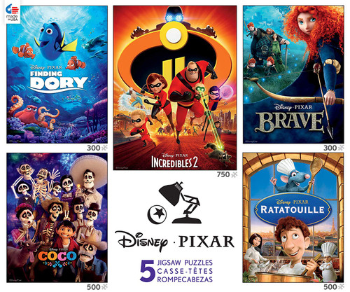 Disney: Pixar - 5 in 1 Multipack Jigsaw Puzzles by Ceaco