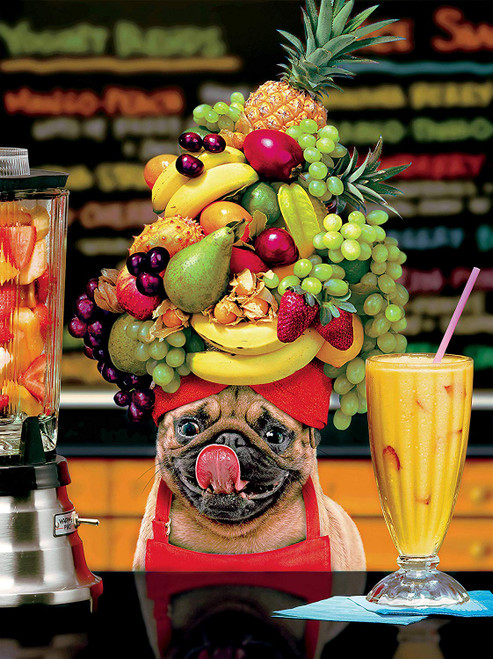 Avant: Fruity Pug - 300pc Large Format Jigsaw Puzzle by Ceaco