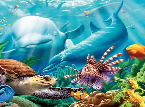 Undersea Glow: Seavillians - 100pc Glow-in-the-Dark Jigsaw Puzzle by Ceaco