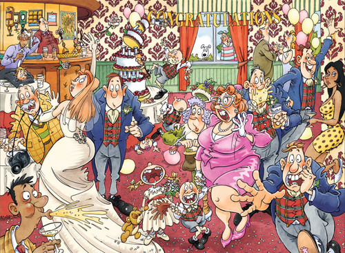 WASGIJ: Original 29, Catching Wedding Fever! - 1000pc Jigsaw Puzzle By Jumbo