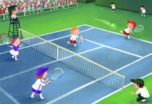 Junior League Tennis - 60pc Jigsaw Puzzle by Eurographics
