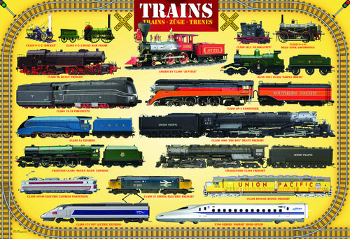Trains - 100pc Jigsaw Puzzle by Eurographics