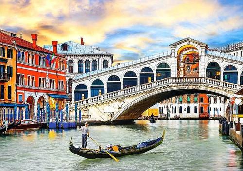 Venice Rialto Bridge - 1000pc Jigsaw Puzzle by Eurographics