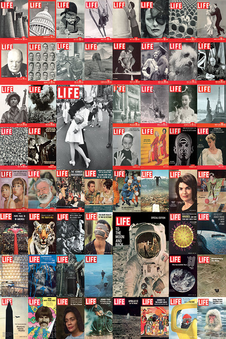 Celebrities: The LIFE Cover Collection - 1000pc Jigsaw Puzzle by Eurographics