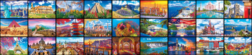 Kodak: World's Largest Puzzle 27 Wonders from Around the World - 51300pc Jigsaw Puzzle by Kodak Premium Puzzles