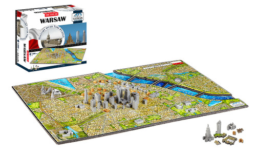 Warsaw, Poland - 1200pc Jigsaw Puzzle by 4D Cityscape