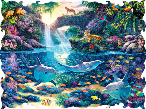 Beautiful Borders: Jungle Paradise - 750pc Jigsaw Puzzle by Lafayette Puzzle Factory