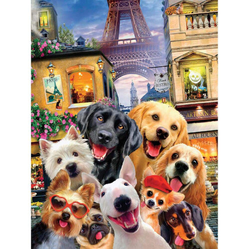 Selfies: In Paris - 550pc Jigsaw Puzzle by Ceaco
