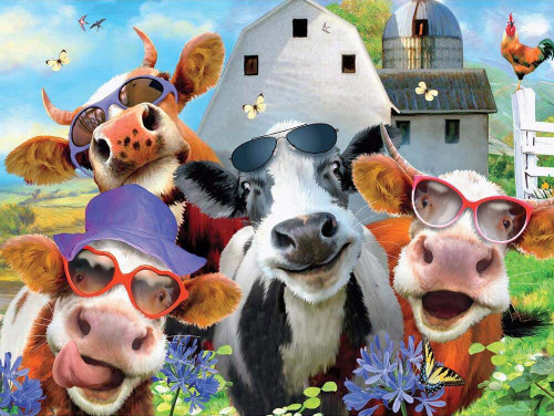 Selfies: Udderly Cool - 550pc Jigsaw Puzzle by Ceaco