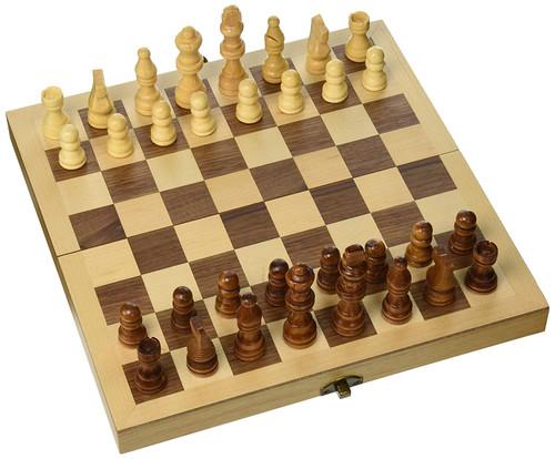 """12"""" Folding Wood Chess Set"""