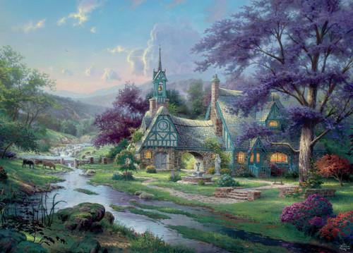 Thomas Kinkade: Clocktower Cottage - 1000 Piece Puzzle by Ceaco