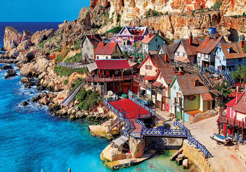 Popeye Village, Malta - 1500pc Jigsaw Puzzle by Cra-Z-Art