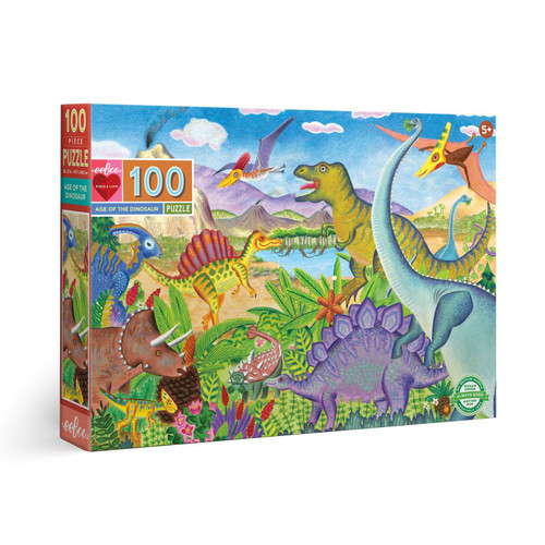 Age of the Dinosaur - 100pc Jigsaw Puzzle by eeBoo