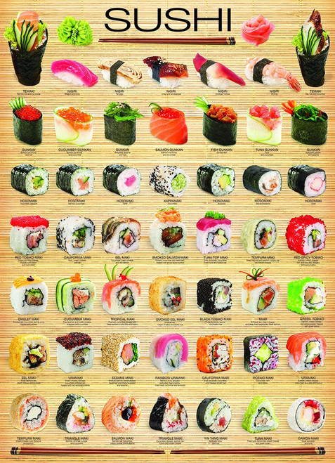 Sushi 1,000 piece puzzle by Eurographics