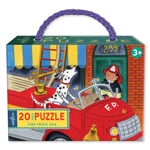 Fire Truck Dog - 20pc Jigsaw Puzzle by eeBoo