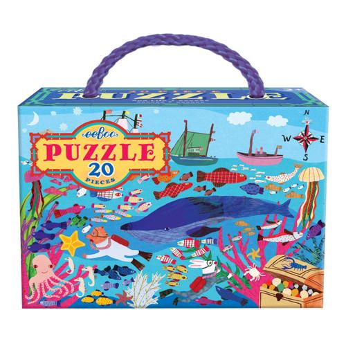 Sea Life - 20pc Jigsaw Puzzle by eeBoo