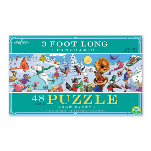 Snow Party - 48pc Jigsaw Puzzle by eeBoo