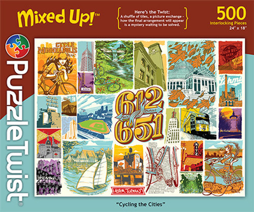 Cycling the Cities - 500pc Jigsaw Puzzle by PuzzleTwist