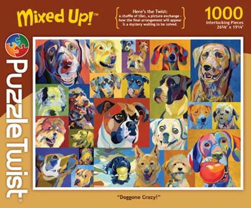 Doggone Crazy! - 1000pc Jigsaw Puzzle by PuzzleTwist