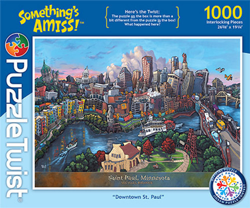 Downtown St. Paul - 1000pc Jigsaw Puzzle by PuzzleTwist