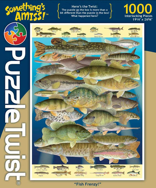 Fish Frenzy! - 1000pc Jigsaw Puzzle by PuzzleTwist