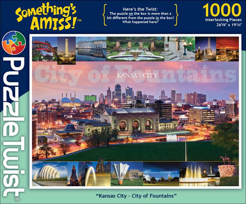 Kansas City, City of Fountains - 1000pc Jigsaw Puzzle by PuzzleTwist