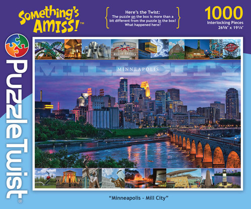 Minneapolis, Mill City - 1000pc Jigsaw Puzzle by PuzzleTwist