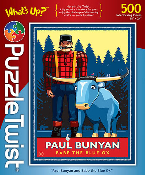 Paul Bunyan and Babe the Blue Ox - 500pc Jigsaw Puzzle by PuzzleTwist