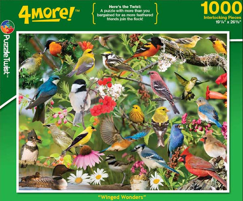 Winged Wonders - 1000pc Jigsaw Puzzle by PuzzleTwist