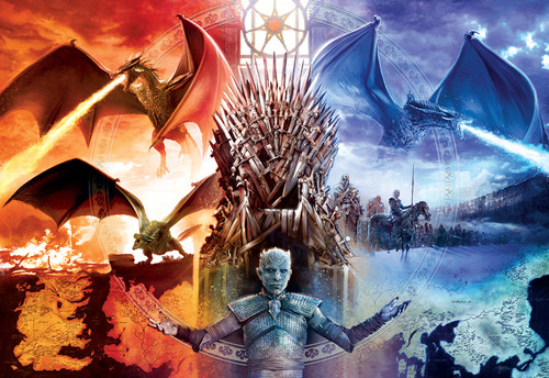 Game of Thrones: Fire and Ice - 2000pc Jigsaw Puzzle by Buffalo Games