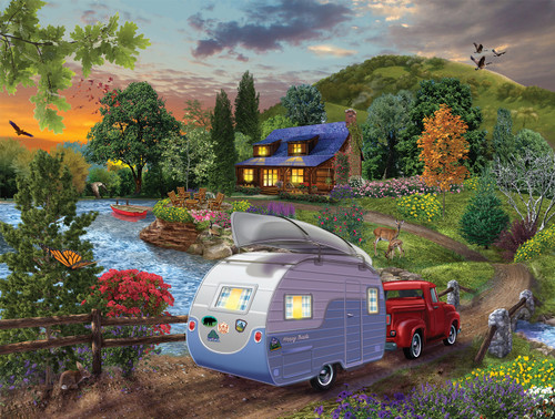 Campers Coming Home - 1000pc Jigsaw Puzzle By Sunsout